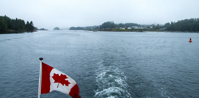 Gloomy skies over Ucluelet
