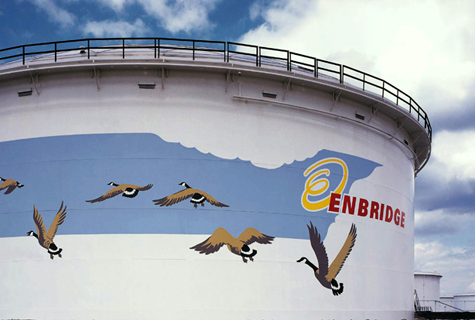 Enbridge tanks